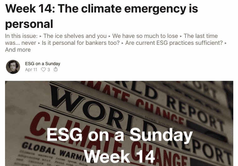 "Article ""The climate emergency is personal"" (screenshot)"